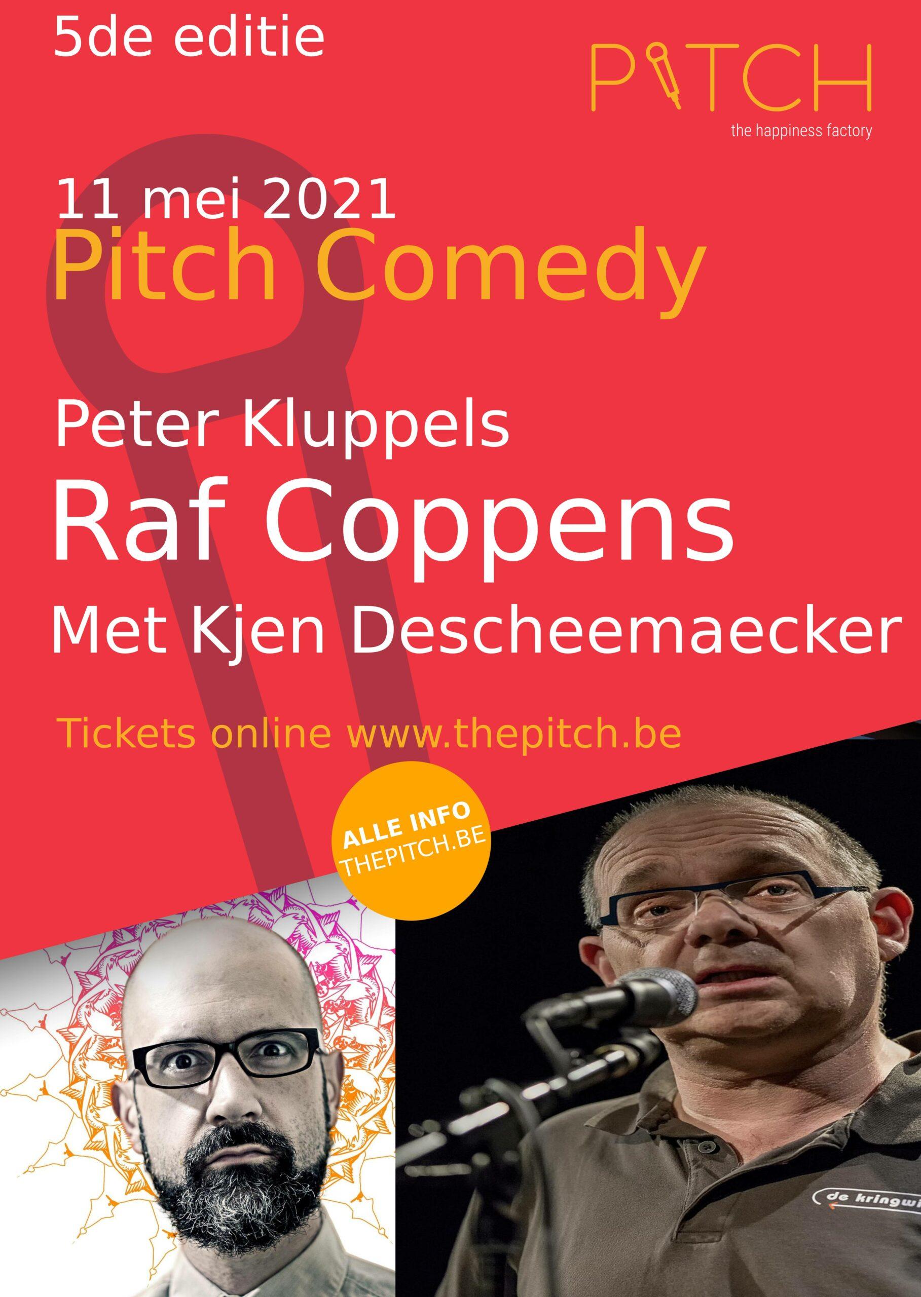 Raf coppens comedy en Peter Kluppels in Pitch Kortrijk