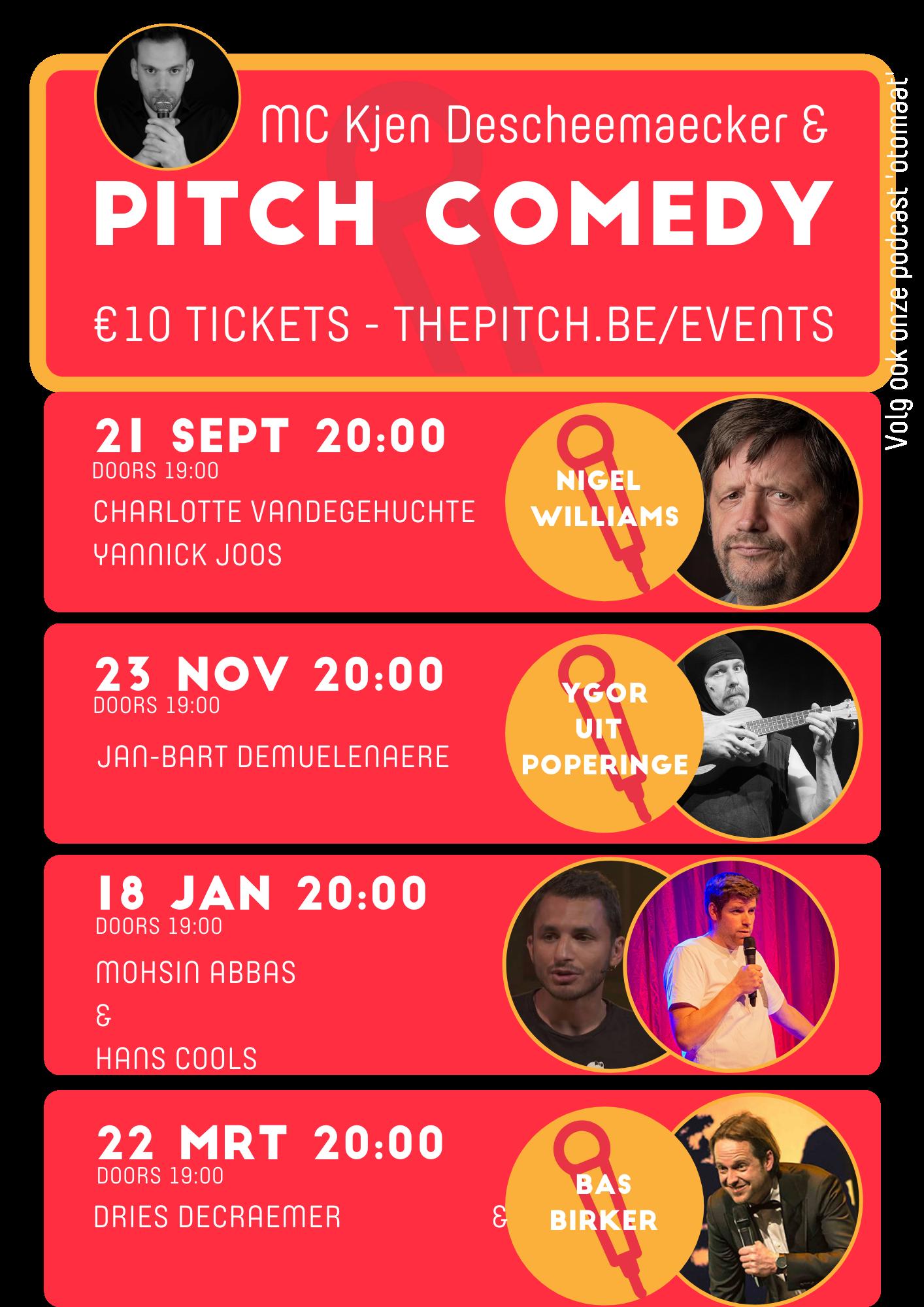Pitch comedy kalender 2021